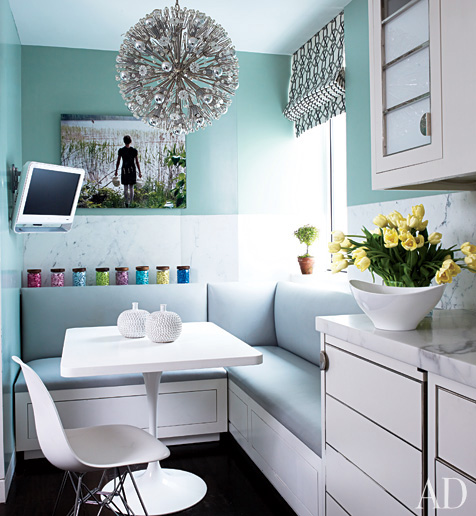 via architecturaldigest.com via architecturaldigest.com. Using color to make  small rooms look bigger ...