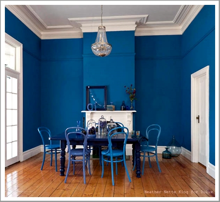 Feeling blue interior painting with sky turquoise and for Best white paint for grow room