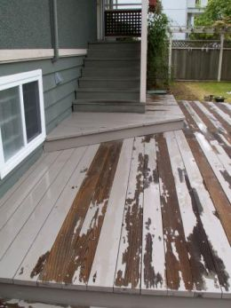 painted deck versus stained deck