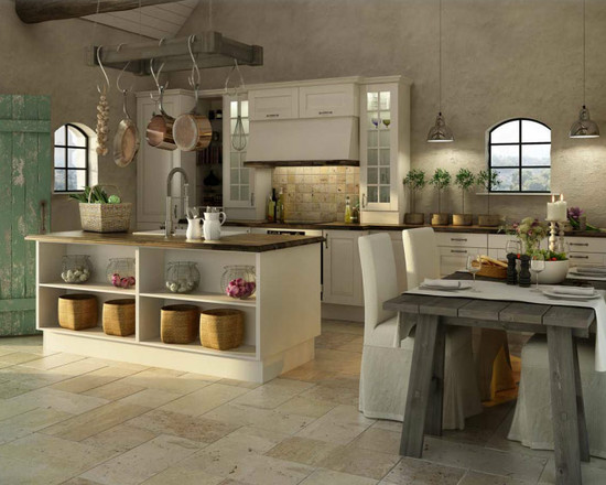 Mediterranean Rustic Kitchen Design