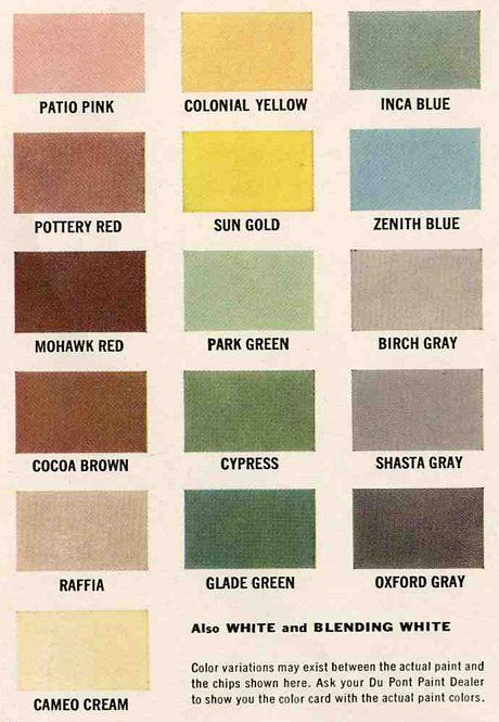 1960s Colors Trend 2015