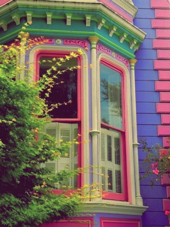 very colorful house exterior