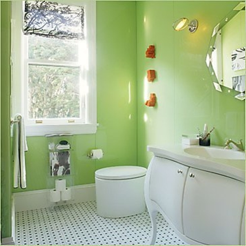 The spring colors are coming jerry enos painting for Green bathroom paint colors
