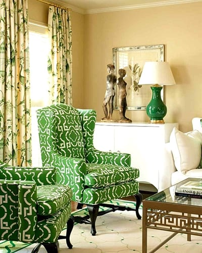 Kelly green living room chairspng Jerry Enos Painting