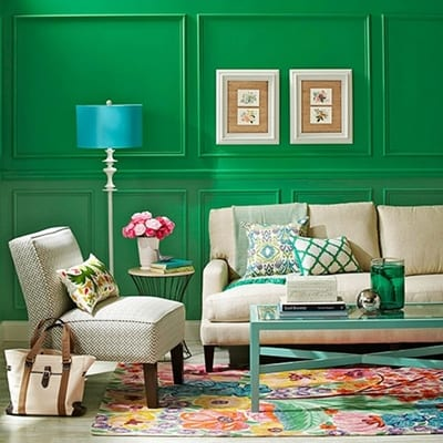 kelly green wall paint