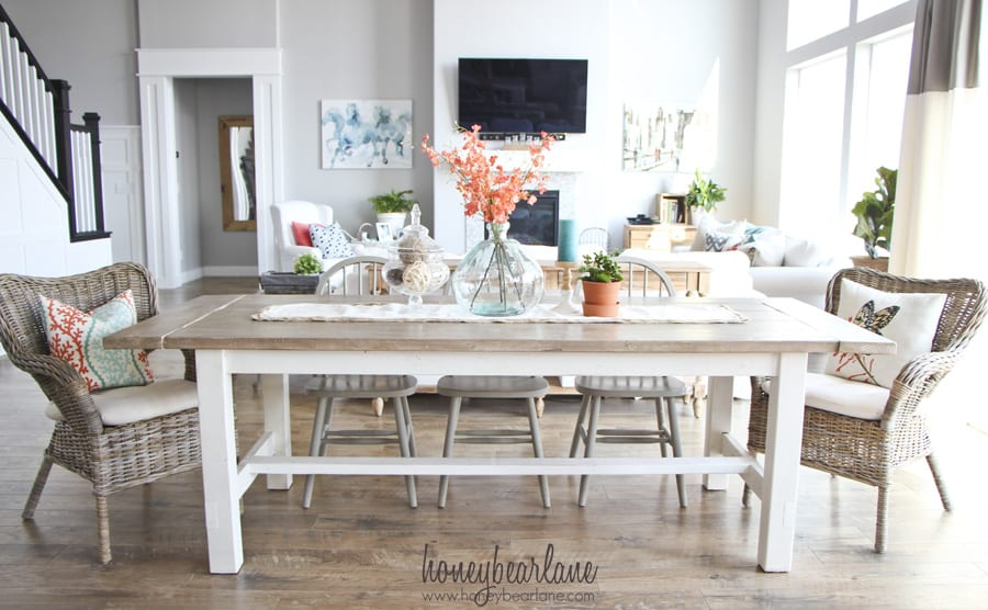 Ana white farmhouse table jerry enos painting - Ana white kitchen table ...