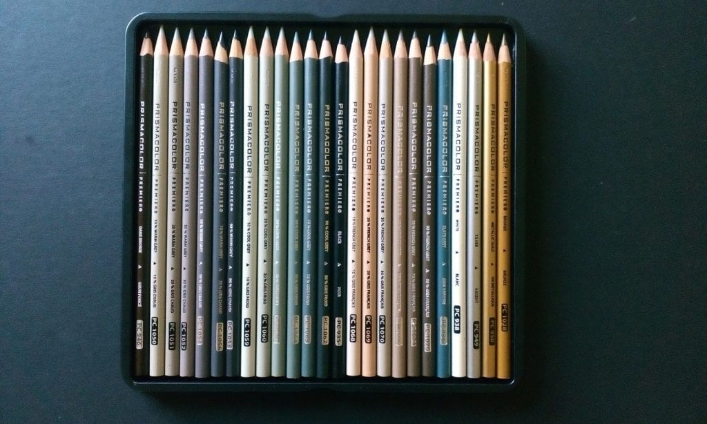 pencils in neutral colors