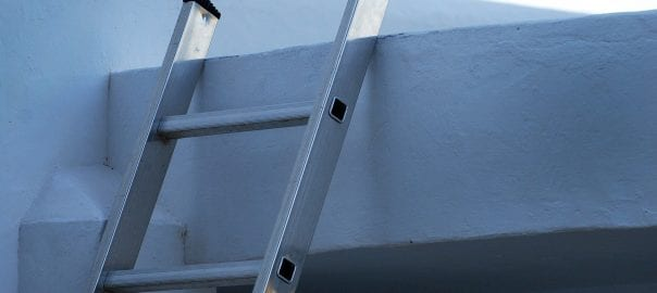 ladder leading to a roof